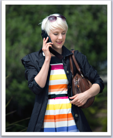 Image of woman on telephone