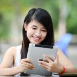 Image of woman with iPad